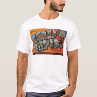 Grand Rapids, Michigan - Large Letter Scenes T-Shirt