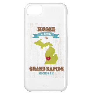 grand rapids, michigan Map – Home Is Where iPhone 5C Case
