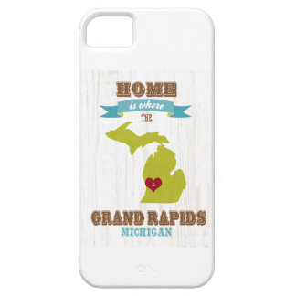 grand rapids, michigan Map – Home Is Where Case For The iPhone 5