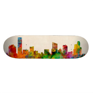 Grand Rapids Michigan Skyline Cityscape Custom Skateboard