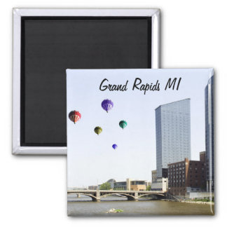 Grand Rapids Michigan Square Magnet