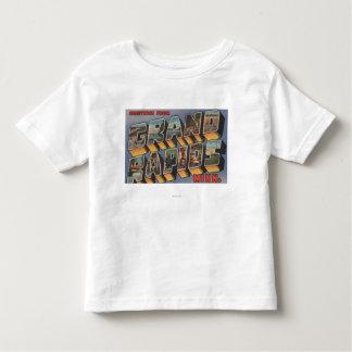 Grand Rapids, Minnesota - Large Letter Scenes Toddler T-Shirt