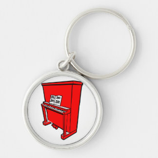 grand red upright piano with music.png key ring
