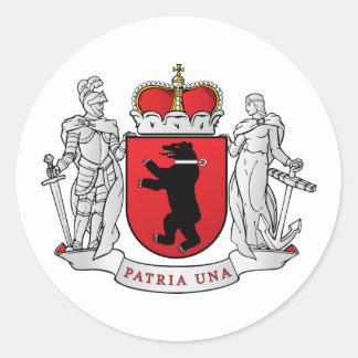Grand  Samogitia, Lithuania Classic Round Sticker