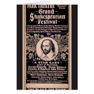 Grand Shakespearian Festival Greeting Card
