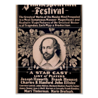 Grand Shakespearian Festival Posters