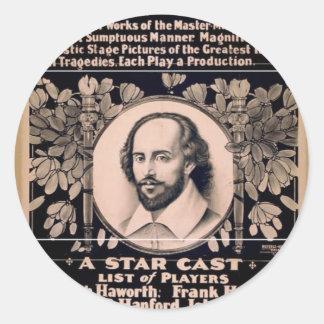 Grand Shakespearian Festival Round Sticker