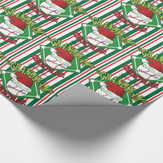 Grand Slam Baseball Christmas | DIY Name Wrapping Paper