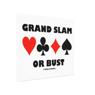 Grand Slam Or Bust Bridge Four Card Suits Gallery Wrap Canvas