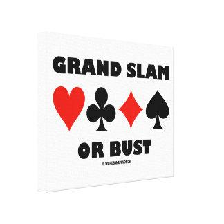 Grand Slam Or Bust Bridge Four Card Suits Canvas Print