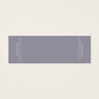Grand Soiree | Lilac Gray Non Folded Placecard Mini Business Card