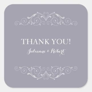 Grand Soiree | Lilac Gray Wedding Favour Sticker