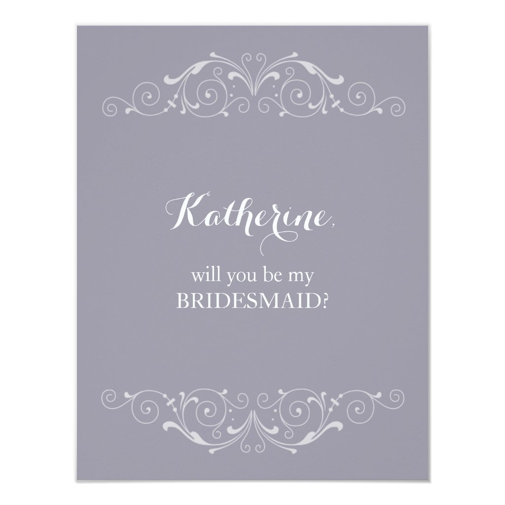Grand Soiree | Will you be my bridesmaid Card