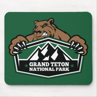 Grand Teton Brown Bear Mouse Pad