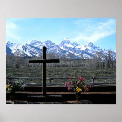 Grand Teton Church Poster