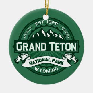 Grand Teton Forest Round Ceramic Decoration