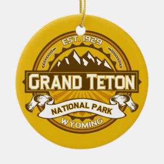 Grand Teton Goldenrod Round Ceramic Decoration