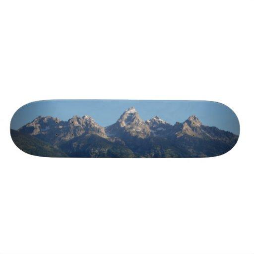 Grand Teton In Utah Custom Skate Board