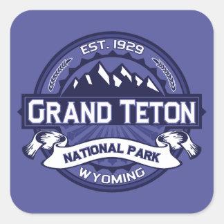 Grand Teton Logo Midnight Square Sticker