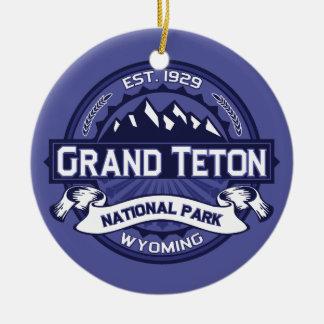 Grand Teton Midnight Round Ceramic Decoration