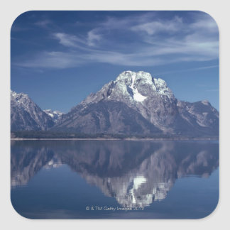 Grand Teton mountain range Square Sticker
