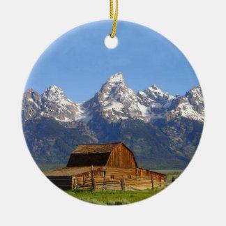 Grand Teton mountains Christmas Ornament