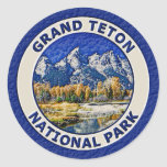 Grand Teton National Park Classic Round Sticker