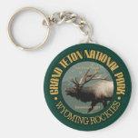 Grand Teton National Park (elk) Basic Round Button Key Ring