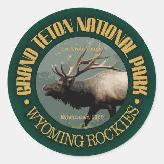 Grand Teton National Park (elk) Classic Round Sticker