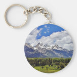 Grand Teton National Park. Basic Round Button Key Ring