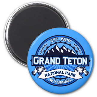 Grand Teton National Park Logo 6 Cm Round Magnet