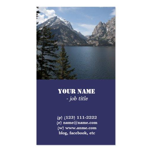 Grand Teton National Park photography profile card Business Card