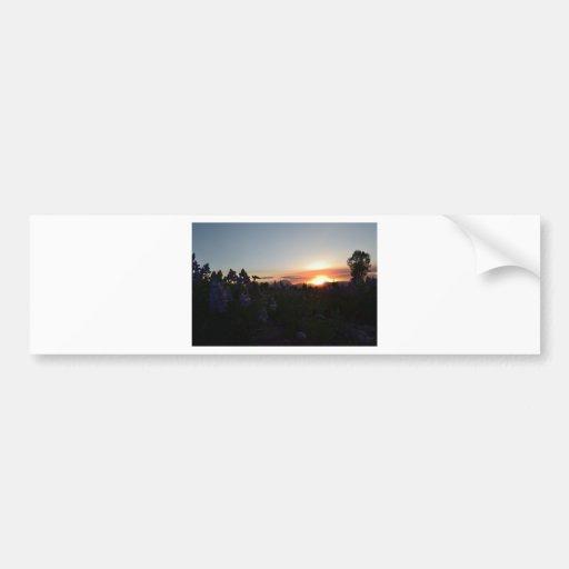 Grand Teton National Park Sunset Bumper Sticker