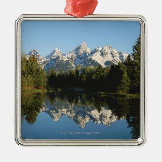 Grand Teton National Park, Teton Range, Wyoming, Silver-Colored Square Decoration