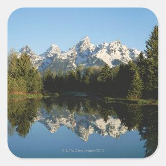 Grand Teton National Park, Teton Range, Wyoming, Square Sticker