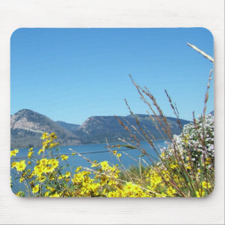 Grand Teton National Park wild flowers and lake. Mouse Pad