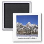 Grand Teton National Park - Winter Fridge Magnet