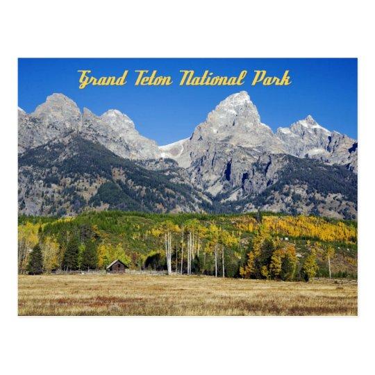 Grand Teton National Park, Wyoming Postcard