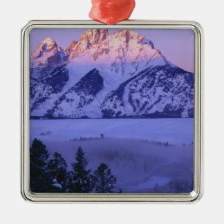 GRAND TETON NATIONAL PARK, WYOMING. USA. Fog & Christmas Ornament