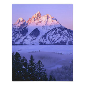 GRAND TETON NATIONAL PARK, WYOMING. USA. Fog & Photo Print