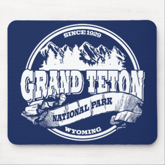 Grand Teton Old Circle Blue Mouse Pads