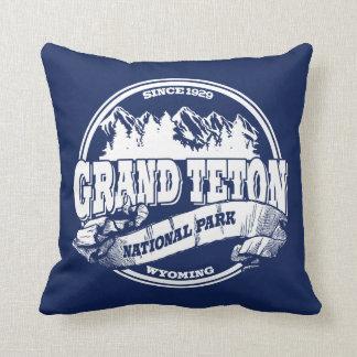 Grand Teton Old Circle Blue Throw Cushion