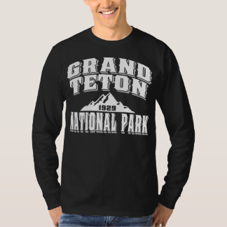 Grand Teton Old Style White T-Shirt