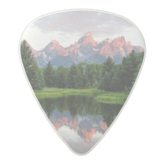 Grand Teton Reflections Over the Beaver Pond Acetal Guitar Pick