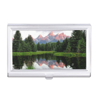 Grand Teton Reflections Over the Beaver Pond Business Card Holder