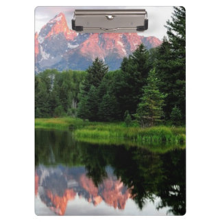 Grand Teton Reflections Over the Beaver Pond Clipboard