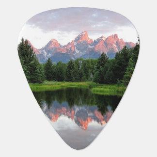 Grand Teton Reflections Over the Beaver Pond Guitar Pick