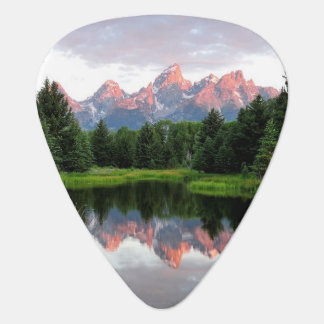 Grand Teton Reflections Over the Beaver Pond Guitar Pick