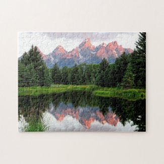 Grand Teton Reflections Over the Beaver Pond Jigsaw Puzzle