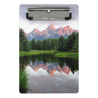 Grand Teton Reflections Over the Beaver Pond Mini Clipboard